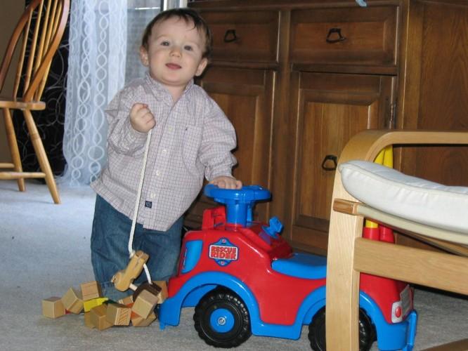 Boys and their cars . . .